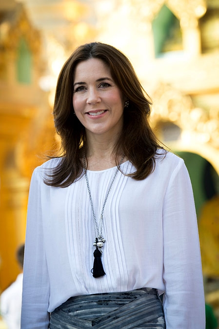 Crown Princess Mary w Myanmarze