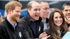 Prins William, prins Harry og hertuginde Catherine