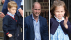 Prins George, prins William og prinsesse Charlotte