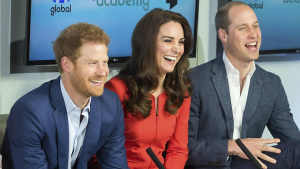 Prins Harry, prins William og hertuginde Catherine