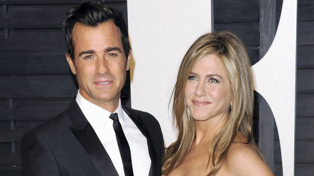 Justin Theroux og Jennifer Aniston.