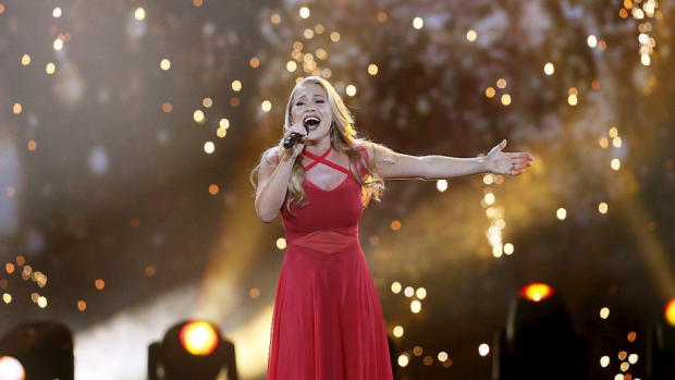 Anja Nissen ved Eurovision Song Contest semifinalen 2017.
